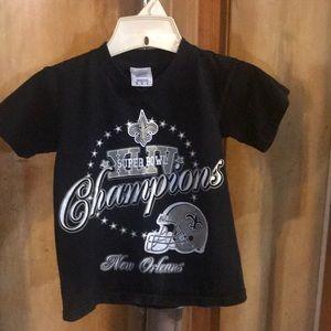Child M New Orleans Saints Super Bowl Tee